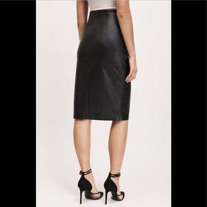 RW & Co Faux Leather High Waisted Midi Skirt, sz 6